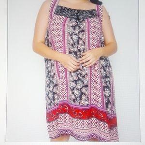 Bailey Blue Boho Sleeveless Dress